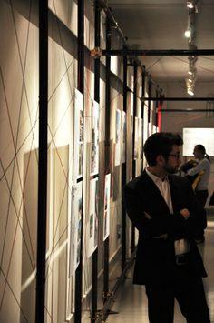"""Mostra """"Progetti di Giovani Architetti Italiani"""" - particolare dell'installazione"""