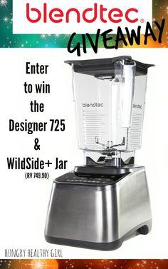Enter to win, my favorite blender, the awesome Blendtec Designer 725 & WildSide+ Jar (RV $749.90)