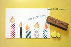 Happy Birthday stamp + drop Hanko