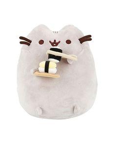 Pusheen soft toys sold on SUDDENLY CAT. Pusheen is a chubby grey tabby cat. Pusheen Love, Pusheen Cat, Pusheen Stuff, Kawaii Plush, Kawaii Cute, Sushi Plush, Grey Tabby Cats, Cute Stuffed Animals, Neko