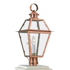 New Orleans Outdoor Post Mount is available in a Copper finish with Clear glass. One 60 watt, 120 volt Edison A Shape type Candelabra base Incandescent lamp is required but not included. 10.5 inch width x 22 inch height. Lamp Post Lights, Old Lights, Norwell Lighting, Copper Lamps, Lantern Post, Outdoor Wall Sconce, Lighting Solutions, Clear Glass, Lanterns