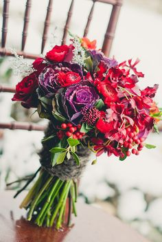 Ruby Red Wedding Inspiration Wedding Flowers Photos on WeddingWire