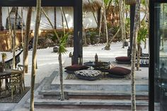 The ocean and the jungle sandwich style and seclusion at Habitas Tulum, a Tulum design hotel led by culture and experience. Hotel Branding, Front Rooms, Beach Hotels, Lounge Areas, Green Building, Tulum, Natural Materials, A Boutique, Design Hotel