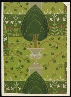 'The Formal Garden' #wallpaper by Walter Crane, England, 1904. l Victoria and Albert Museum