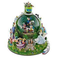 Disney Snow Globe - Four Parks One World - Walt Disney World Resort
