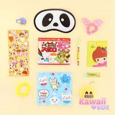 Here are all the items from march Kawaii Box! ❤❤ K A W A ! ! ► http://www.kawaiibox.com/kawaii-box-march-2016/
