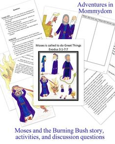 Moses and the Burning Bush Activities - Adventures in Mommydom