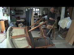 A Found Treasure Restored - Reupholster a Chair - YouTube