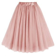 V28® Women Midi Tulle Tutu Ballet Ruffle Bridal Cosplay Petticoat... ($17) ❤ liked on Polyvore featuring skirts