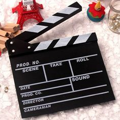 Director Video Scene Clapperboard TV Movie Clapper Board Film Slate Cut Prop KI #New