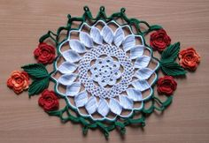 Crocheted pattern, but maybe could convert to tatting with clunys??Crochet doily patterns ~ Free Patterns