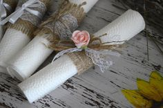 50 Burlap Napkin Rings Rustic Wedding Napkin by MagicalStart