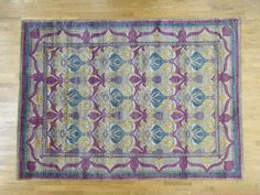 "9'2""x12'6"" Arts And Crafts William Morris Design Pure Wool Oriental Rug R33024 $3790."