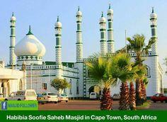 Masjid in South Africa Kitchen Design Open, Beautiful Mosques, Islamic Wall Art, Islamic Architecture, Southeast Asia, South America, Taj Mahal, Most Beautiful, Around The Worlds