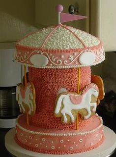 Cute cake for a circus themed party