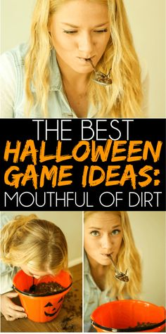 of the Best Halloween Games Ever - Play Party Plan Looking for Halloween party games that are easy to plan and fun for all ages? These Halloween games are unique, fun, and perfect for kids or adults! Halloween Games Teens, Halloween Carnival Games, Teen Halloween Party, Fete Halloween, Halloween Costumes, Halloween Party Activities, Family Halloween, Halloween Juegos, Holloween Games