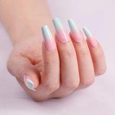 Almond Nails Designs Acrylic Nail Tips, Pink Acrylic Nails, Nude Nails, Acrylic Nail Designs, Glitter Nails, Cute Pink Nails, Nail Pink, Pretty Nails, Gorgeous Nails