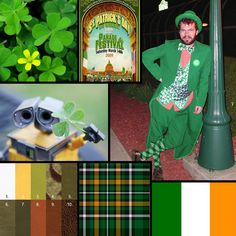 St. Patrick's Day inspired palette for Finao albums. Irish Wedding theme.
