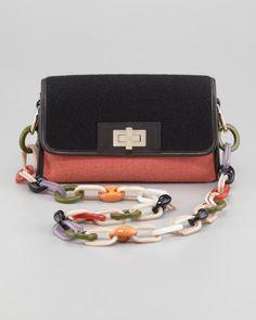 M-Missoni | colorblock felt bag