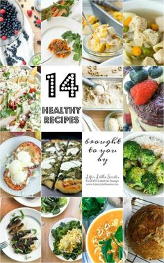 14 Healthy Recipes + 2 Bonus Recipes! | Here are 14 Healthy Recipes from Life's Little Sweets! Start the year off right with these 14 different recipes ranging from savory to sweet. Check out the 2 bonus recipes at the end of the list!