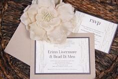 Rustic Themed Wedding Invitation   www.papercreations.ca