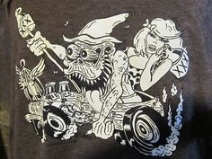 MR. MOONSHINE HILLBILLY HOT ROD T SHIRT MONSTER ART 2XL 3XL BROWN SCHERES