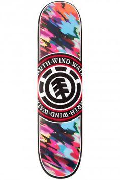 """Element Acid Seal 7.75"""" Deck   #skatedeluxe #sk8dlx #skateboard #deck #colours #holi #print #wind"""