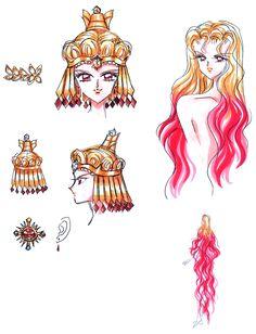 Naoko Takeuchi, Bishoujo Senshi Sailor Moon, BSSM Materials Collection, Sailor Galaxia, Character Sheet