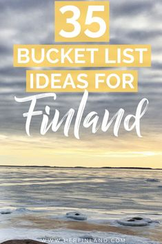 Bucket List: 35 Authentic Ideas by a Local Here are 35 bucket list ideas for your Finland visit to enjoy Finland like a local!Here are 35 bucket list ideas for your Finland visit to enjoy Finland like a local! Finland Destinations, Travel Destinations, Cheap Places To Travel, Cool Places To Visit, Europe Travel Tips, Spain Travel, Travel Abroad, Helsinki Things To Do, Finland Travel