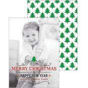 Christmas Tree Swirl Photo Card by #whhostess