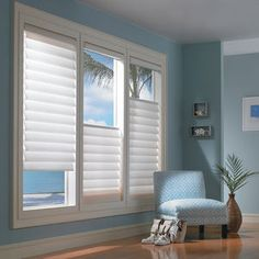"Honeycomb Shades, Modern Window Coverings Modern Silhouette Blinds looks great with this ""In the Sky"" Designed Bedroom. Get your Silhoette window treatments installed by Shades Creation! - Add Modern To Your Life Modern Window Coverings, Modern Window Treatments, Bathroom Window Treatments, Bathroom Windows, Bedroom Window Coverings, Tropical Window Treatments, Living Room Window Treatments, Picture Window Treatments, Kitchen Window Blinds"