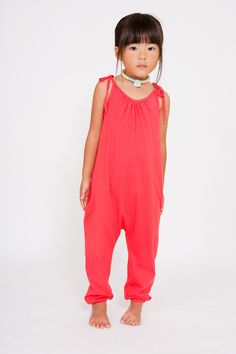jumpsuit in cherry - darling clementine • super soft stretch knit, this just looks so flowing & comfortable!