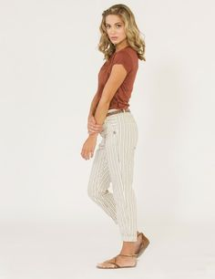 Striped Relaxed Fit Pants
