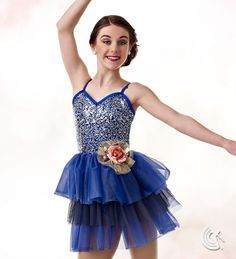 Curtain Call Costumes® - At A Glance Beautiful sequin embellished contemporary dance costume Ballet I-II FR Jade