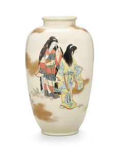 Ito Tozan (1846-1920) A Satsuma vaseMeiji (1868-1912) or Taisho (1912-1926) era, late 19th/early 20th century
