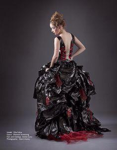 Garbage bag dress by ShannonWynona Avant garde