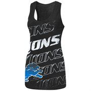 Detroit Lions Play Time V Tri-Blend Tank Top - Black