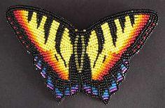 beaded butterfly pin, Todd Lonedog Bordeaux (Lakota)