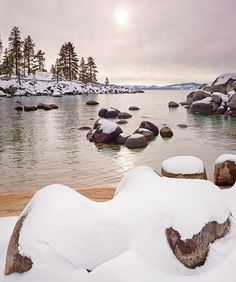 Sand Harbor Snow, Lake-Tahoe  Oh winter please return, at least for the next 4 weeks