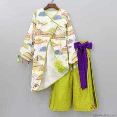 Different types of frocks designs - ArtsyCraftsyDad Kids Dress Wear, Kids Gown, Kids Wear, Frocks For Girls, Dresses Kids Girl, Kids Outfits, Dress Neck Designs, Designs For Dresses, Designer Dresses For Kids