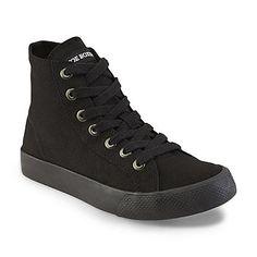 ad3be47e0b3a Joe Boxer Women s Malak Black High-Top Sneaker Black High Top Sneakers