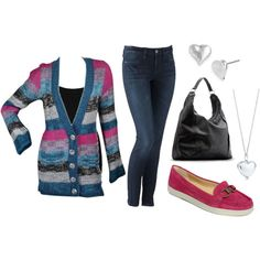 I heart you, created by jennsational on Polyvore...I like this sweater
