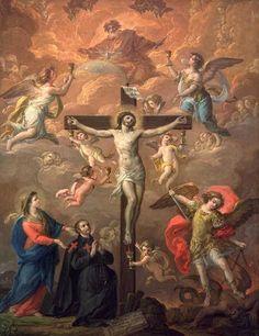 antonio gonzalez velazquez the crucifixion con s camilo de lelis patrono de