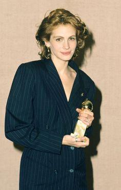Julia Roberts at the Golden Globe Awards, 1991