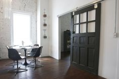 Interior Sliding Barn Door with 6 Lights | Content in a Cottage