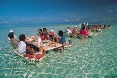 Water dining, Bora Bora…