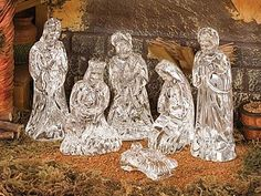 Baby Jesus Waterford Marquis 3 pc Holy Family Joseph Boxed and Retired Mary