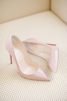 nude Louboutins | http://www.stylemepretty.com/collection/2136/