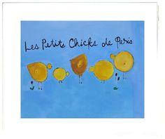 The Little Chicks of Paris™ Children's Collection by artist, Beth Moutrey. Original art work for nurseries and children's rooms. Five Little, Original Artwork, Fine Art Prints, Paris, Collection, Montmartre Paris, Art Prints, Paris France