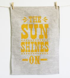 Image of Sun Shines On Tea Towel